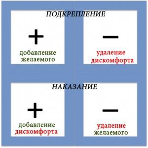 квадрат оперантного научения